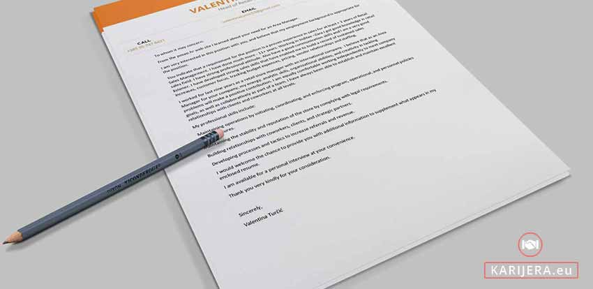 Motivacijsko Pismo Primjer Cover Letter Cv Posao